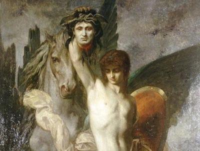 ウジェーヌ・ロマン・ティリオン『メドゥーサの首を斬り取ったペルセウス』(1867年)