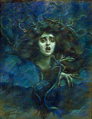 アリス・パイク・バーニー『メドゥーサ』(1892年)