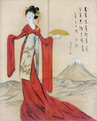 竹下夢二「竜田姫」