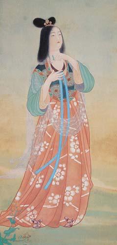 松岡映丘「佐保姫」